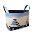 Sailing Boat Fabric Storage Tub