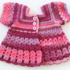 Crocheted Bella Rebekah Cardigan. Size 18-24 months