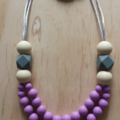 Silicone Necklace -Poppy in Purple-