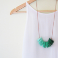 Shade of Green - Polymer Clay Disc Necklace