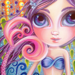 """A Splash of Colour"" Art Print by Jaz Higgins - Whimsical Mermaid Girl Room"