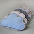 Cloud Mobile Light Blue Cotton & White Linen Fabric CUSTOM LISTING