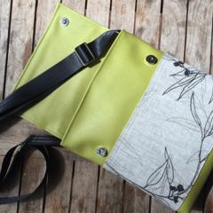 Satchel - Lime - Flowering Gum  - Free Shipping