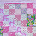 """Pink """"rabbit"""" cot quilt or floor rug"""