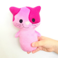 Free Postage Pink Kitty Cat Rattle Toy