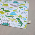 wash or burp cloth - dinosaur / organic cotton bamboo / baby toddler child tween