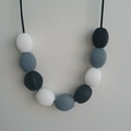 Silicone Teething Necklace - Monochrome Olive