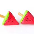 Watermelon icy pole stud earrings