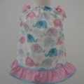 "Size 6 -12 Months ""Cute Elephants"" Dress and Frilled Pants"