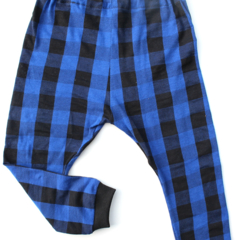 Blue & Black Buffalo Plaid baby leggings