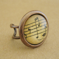 Vintage Music Ring - Copper