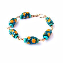 African Krobo Bead Bracelet