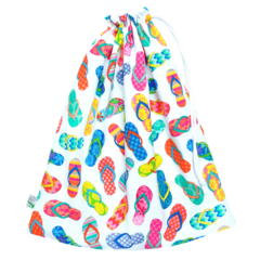 Flip Flops Swimming Bag / Waterproof Wet Bag. Pool or Beach Bag. Rainbow Colours