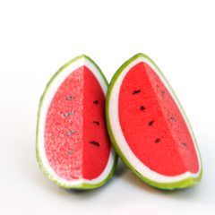 Watermelon slice stud earrings - watermelon studs - watermelon earrings