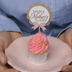 6 Happy Mother's Day Cupcake Toppers ~ Perfect for sellers of cupcakes