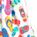 Flip Flops Swimming Bag / Waterproof Wet Bag. Pool or Beach Bag. Rainbow Colours