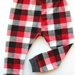 Red & Black Buffalo Plaid legging