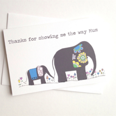 Mother Card - Elephant Love. Free Post.