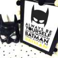 be batman superhero batman Wall Art Print Decor Baby Nursery Kid