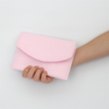 Padded Envelope Style Pouch - Small Spot - Pink and White