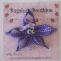 Starfish ribbon hair clip