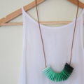 Shades Of Green - Polymer Clay Disc Necklace