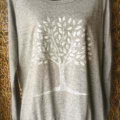 Paper Tree - Ladies L/S  Slouch Crew Tee