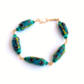 African Green Krobo Bead Bracelet