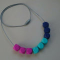 Silicone Teething Necklace - GEO TRIO
