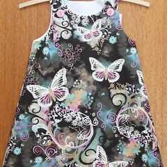 Butterfly Filigree or Flower Fairy A-Line Dress. Size 3