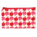 Red Apple Zip Pouch / Zippered Case / Zipper Bag / Purse