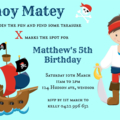 Pirate Boy or Girl Party Invitation