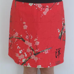 Ladies skirt with stretch waistband