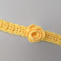 Crochet yellow headband with rose | Easter or birthday gift 1 - 5 years