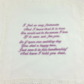 Wedding Handkerchief, Hanky - Embroidered  from the Groom to the Bride's Mother.
