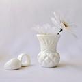 RESIN VASE - handmade petite bud vase in chalk white resin
