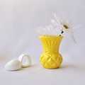 RESIN VASE - handmade petite bud vase in yellow resin - ON SALE