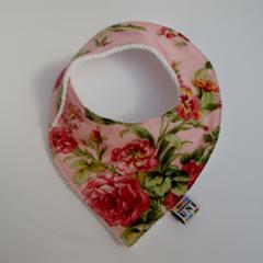 Bandana Bib - Vintage Rose