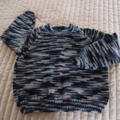 SIZE 3-4 yrs Hand knitted jumper in multi colour: Acrylic, Washable, warm