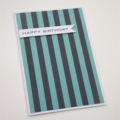 Double Blue Stripes - Birthday Card