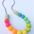 Washable Silicone Necklace for Kids - Mini-Fox Kids Range