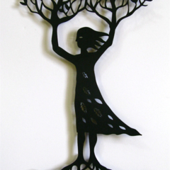 """Tree Woman"" woodcut"