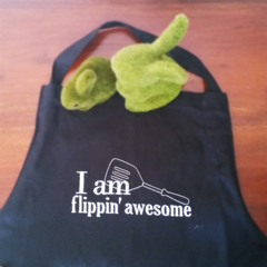 I am Flippin' Awesome Embroidered Apron