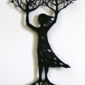 """Tree Woman"" woodcut"