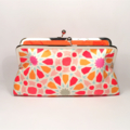 Starry eyed in orange large clutch purse