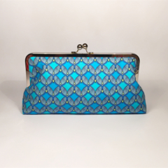 Winter patterns large clutch purse
