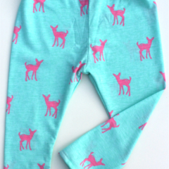 Mint deer baby legging
