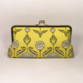 Chrysanthemum in sage large clutch purse