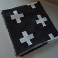 Organic White Crosses on Black Baby Wrap - Swaddle Blanket - Blanket