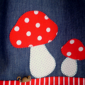 """Mushroom Magic"" Denim Pinafore"